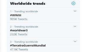 """""""الحرب العالمية الثالثة"""" تجتاح """"تويتر""""!"""