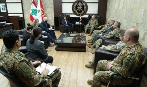 قائد الجيش عرض ووفد لجنة الخدمات المسلحة الأميركية علاقات التعاون