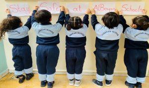 بالصور- اجراءات وقائية من الكورونا في مدارس الضاحية