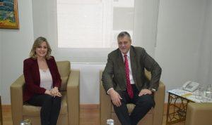 كلودين عون روكز تناولت مع كوبيتش دعم الأمم المتحدة