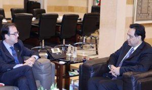 السفير الفرنسي يؤكد لدياب على دعم فرنسا للبنان