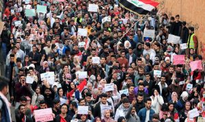 قتلى وجرحى بين صفوف المتظاهرين في بغداد