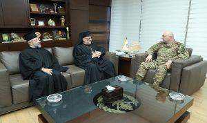 قائد الجيش استقبل رئيس الرهبانية الباسيلية وأسقف فنزويلا