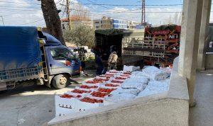بالصور- ضبط شاحنات محملة بخضار مهربّة في شتورا