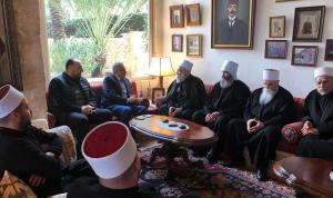 أرسلان تابع أوضاع الموحدين الدروز في سوريا