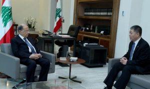 السفير الصيني من بعبدا: مستعدون لمساعدة لبنان في مكافحة كورونا