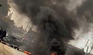 قطع طريق بعلبك – حمص الدولية في مقنة