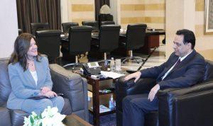 السفيرة الأميركية من السراي: مستمرون بدعم لبنان
