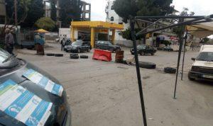 محتجون قطعوا طريق عام حلبا