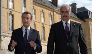 ماكرون يستقبل حفتر ويشيد بدور الجيش الليبي