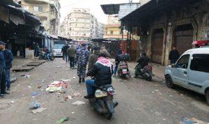 إقفال المحال في سوق العطارين في طرابلس