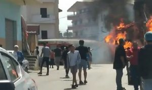 انفجار داخل محل لبيع قوارير الغاز في الغازية