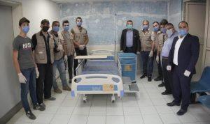 تجهيز 10 غرف إضافية في مستشفى حلبا الحكومي