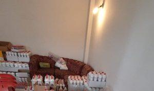 بالصور: مواد تنظيف مزورة داخل منزل في القليعات