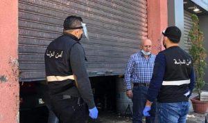 مديريّة أمن الدولة في جبيل أقفلت محلّات مخالفة