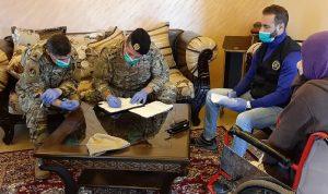 الجيش بدأ بتوزيع المساعدات لعائلات تلامذة المدارس الرسمية