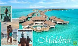 كورونا يجبر زوجان على شهر عسل أبدي في المالديف (صور)