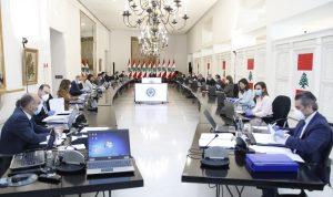 جلسة لمجلس الوزراء في قصر بعبدا الجمعة