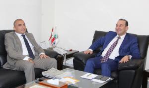 مرتضى استقبل ضاهر وسفير قطر في لبنان