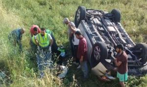 إصابة 3 سيدات بانزلاق سيارتهن على طريق عام العديسة