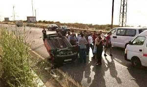 4 جرحى في حادث سير على أوتوستراد شكا