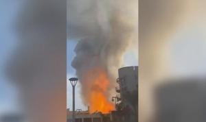 حريق ضخم في لوس أنجلوس (فيديو)
