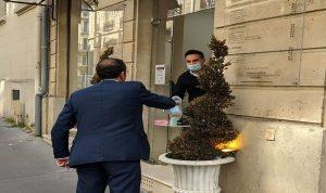 سفير لبنان في فرنسا يجول على مؤسسات اللبنانيين