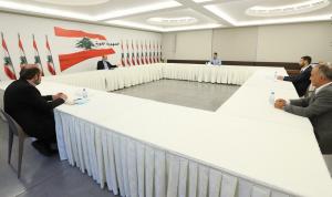 سفير مصر ورئيس جمعيّة تجار زحلة في معراب