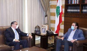 الأوضاع العامة بين الحريري والسفير المصري