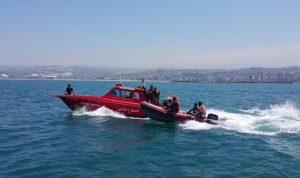 انقاذ 3 مواطنين من الغرق مقابل شاطئ السعديات
