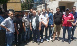 اعتصام امام سرايا طرابلس لاطلاق الموقوف ربيع كنيفاتي