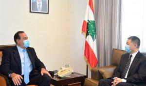 حب الله التقى السفير الصيني: لبنان لا يدير ظهره لأحد من شركائه
