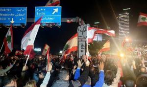 بالفيديو: توتر عال بين المتظاهرين والجيش في أنطلياس
