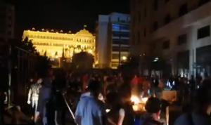 تحطيم محال في وسط بيروت.. والقوى الأمنية تتدخّل (فيديو)