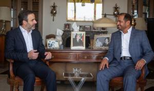 لقاء سياسي وإنمائي بين معوض وسفير الإمارات