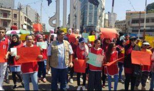 اعتصام امام قصر عدل طرابلس للمطالبة باطلاق الزين