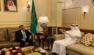 اللواء ابراهيم زار السفير السعودي في اليرزة