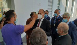 وزير الصحة جال في أقسام مستشفى اوتيل ديو (صور)