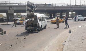 بالصور- إصابة 5 مدنيين في انفجار وسط بغداد