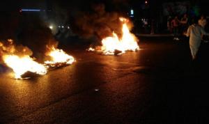 محتجون قطعوا الطريق عند تقاطع إيليا