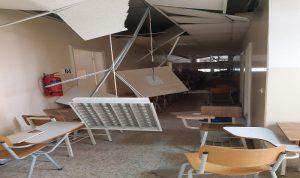 أضرار كبيرة في كلية الاعلام الفرع الثاني جراء الانفجار (صوَر)