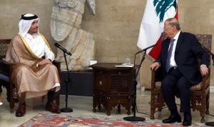 عون استقبل وزير خارجية قطر: نرحب بأي مساعدة لإعادة الإعمار