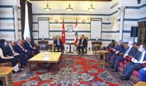 دياب استقبل نائب الرئيس التركي: نقف إلى جانب لبنان