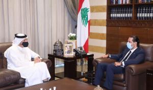 الحريري عرض المستجدات مع وزير خارجية قطر