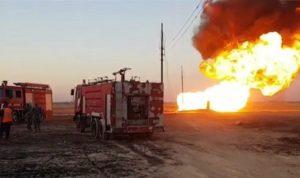 """العتمة تخيّم على سوريا.. انفجار """"ارهابي"""" في خط الغاز العربي بدمشق (فيديو)"""