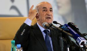 """الرئيس الجزائري: لن نبارك """"الهرولة"""" إلى التطبيع مع إسرائيل"""