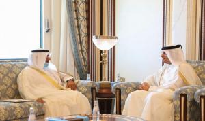 """أمين عام """"التعاون الخليجي"""" يلتقي وزير خارجية قطر"""
