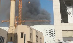 حريق كبير في أحد المباني التجارية بوسط بيروت (فيديو)