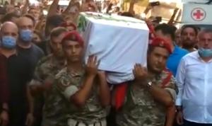 الوداع الأخير للشهيد شربل جبيلي في بلدته كرم عصفور