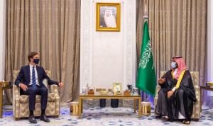 """بن سلمان ناقش وكوشنر """"آفاق عملية السلام في المنطقة"""""""